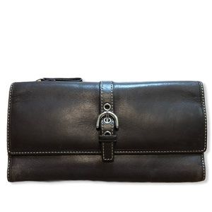 COACH Brown a Leather Wallet